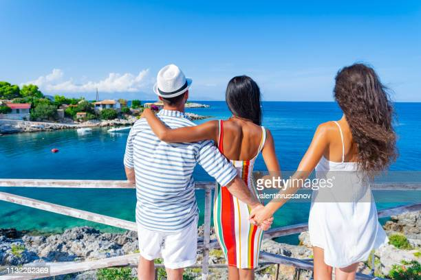 love triangle - complicated relationships - bigamy stock pictures, royalty-free photos & images