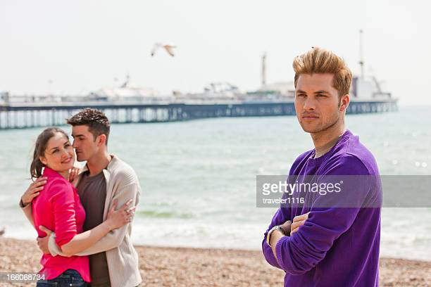 love triangle - brighton beach england stock pictures, royalty-free photos & images