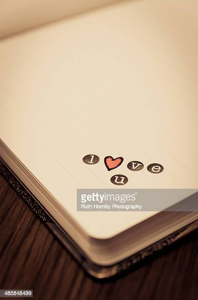love u - typographies stock photos and pictures