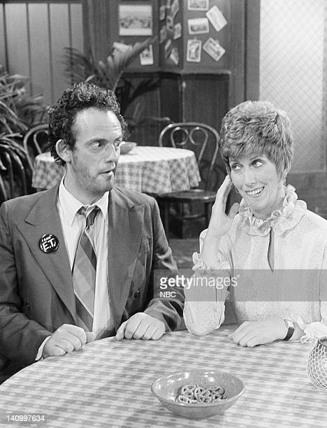 TAXI 'Love UnAmerican Style' Episode 1 Aired 9/30/82 Pictured Christopher Lloyd as Reverened Jim Ignatowski Marcia Wallace as herself Photo by NBCU...