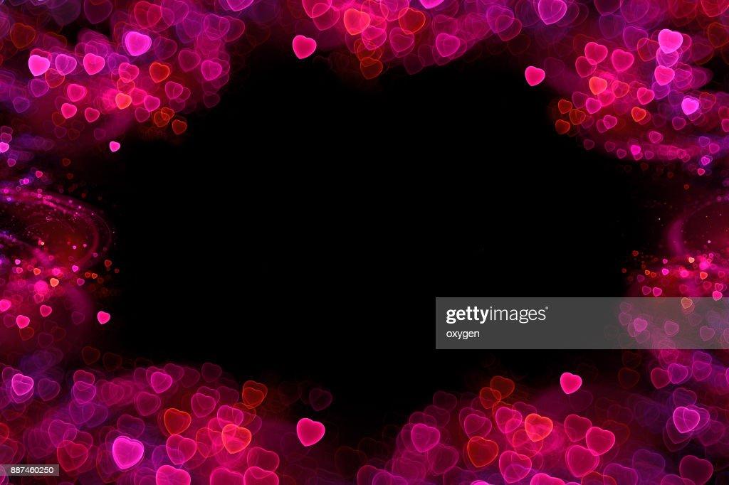Love valentine's background with hearts boheh : Stock Photo