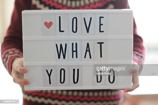 love what you do - marketing icons stock photos and pictures