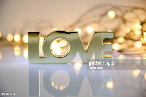love word and lights - wedding background stock pictures, royalty-free photos & images