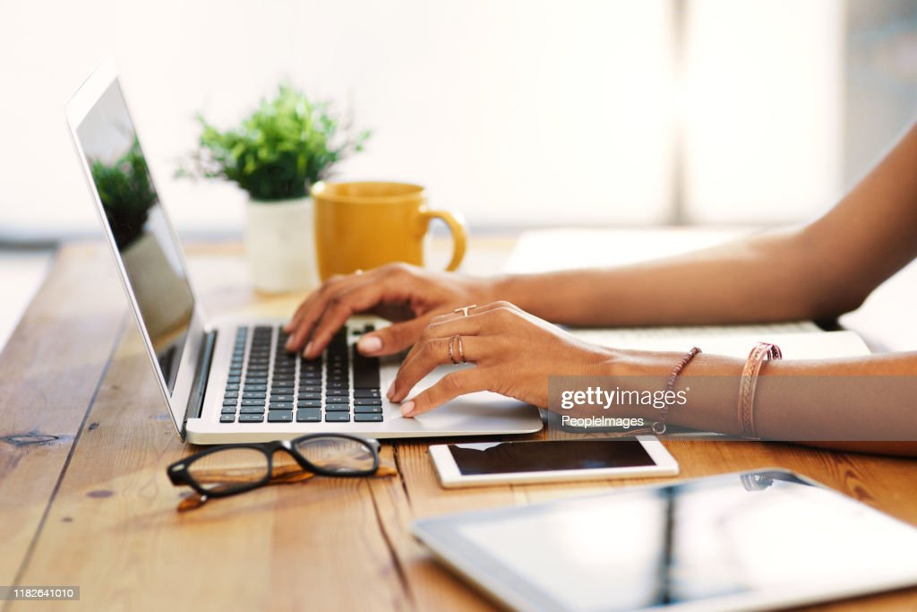 I love working from home : Stock Photo