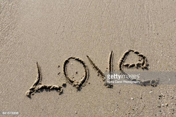 love written at the beach - single word stock pictures, royalty-free photos & images