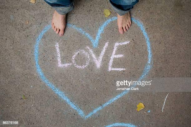 Love written in chalk