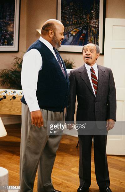 AIR 'PS I Love You' Episode 6 Pictured James Avery as Philip Banks Sherman Hemsley as Judge Carl Robertson Photo by Chris Haston/NBCU Photo Bank