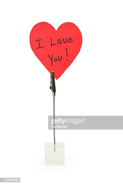 i love you note - love you stock photos and pictures