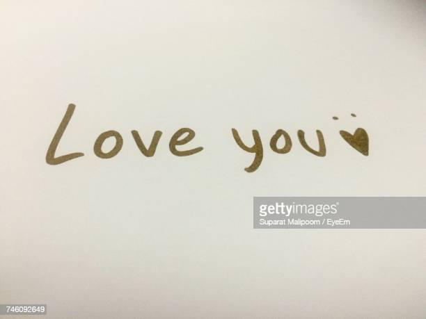 love you text on white background - love you stock photos and pictures