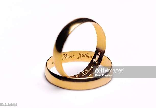 i love you wedding rings - wedding ring stock pictures, royalty-free photos & images
