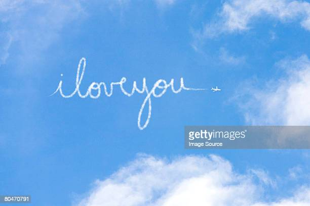 i love you written in vapour - love you stock photos and pictures