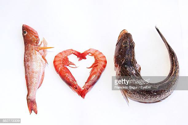 i love you written with fish - fish love ストックフォトと画像