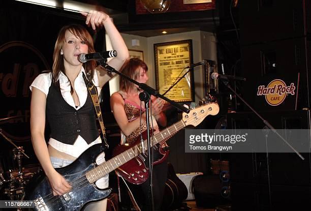 Lovebites during Hard Rock Café 35th Birthday Celebrations at Hard Rock Café in London Great Britain