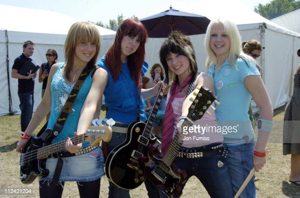 Lovebites during Invicta FM's Party In The Park Backstage at The Hop Farm in Kent Great Britain