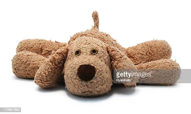 a loved child's dog stuffed animal - stuffed toy stock pictures, royalty-free photos & images