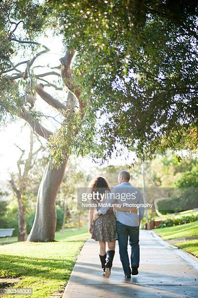 Loved up couple in nature surroundings