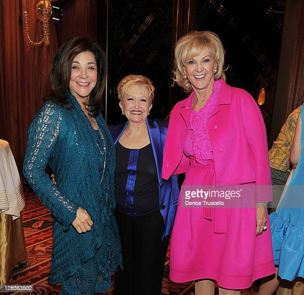 Lovee Arum Nancy Houssels and Elaine Wynn attend the Oscar De La Renta Resort 2011 collection preview hosted by Vogue to benefit Communities In...