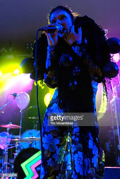 Lovefoxxx of CSS performs in support of the band's 'Donkey' release at Stubbs BBQ on September 26 2008 in Austin Texas