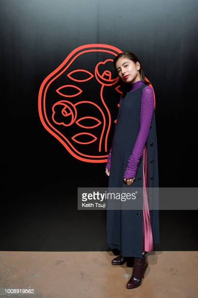 Loveli attends the Shiseido Makeup Tokyo Launch Event on August 1 2018 in Tokyo Japan