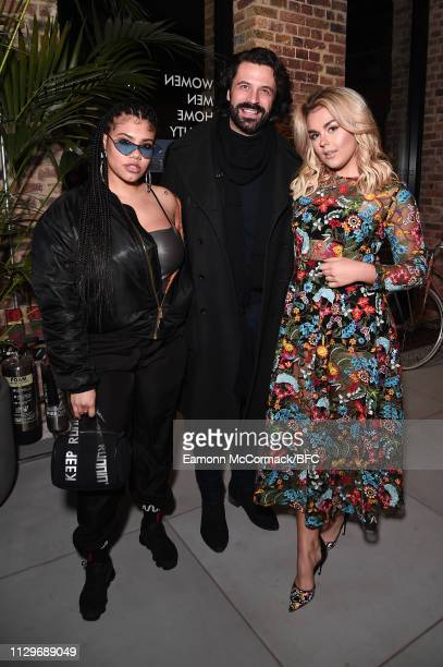 Lovelle Christian Vit and Tallia Storm attends the Wolf Badger LFW Party during London Fashion Week February 2019 on February 14 2019 in London...