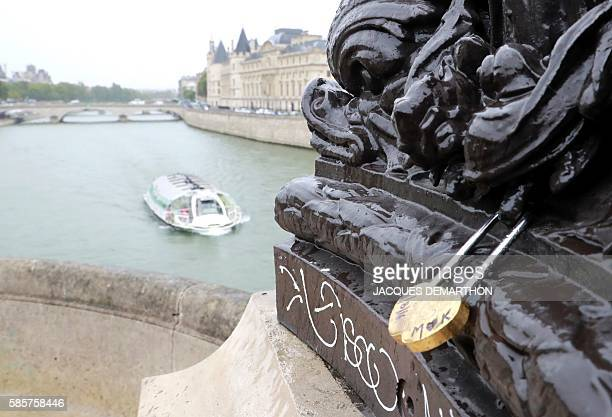 Lovelocks are seen on the bridge of Pont Neuf in Paris on August 4 2016 Love may know no bounds but Paris intends to instill some authorities are...