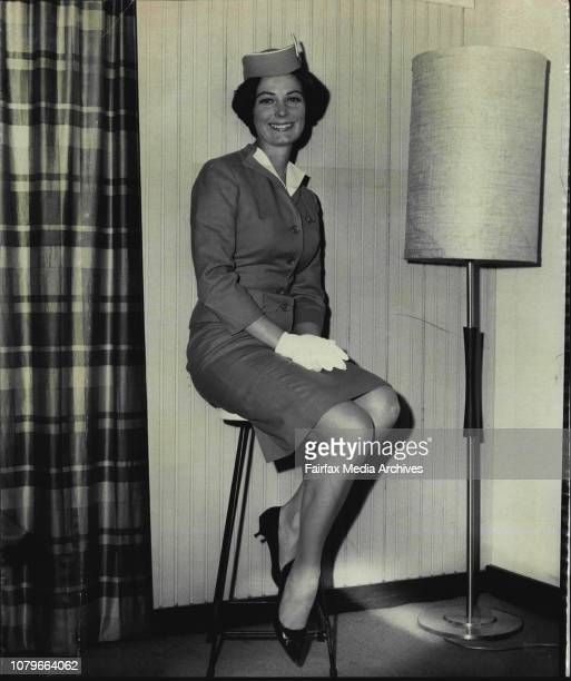 Lovely 26yearold PAA stewardess Arlene Dagmar Nesbitt who reached Sydney today to tell Australian women about the newly opened worlds fair in New...