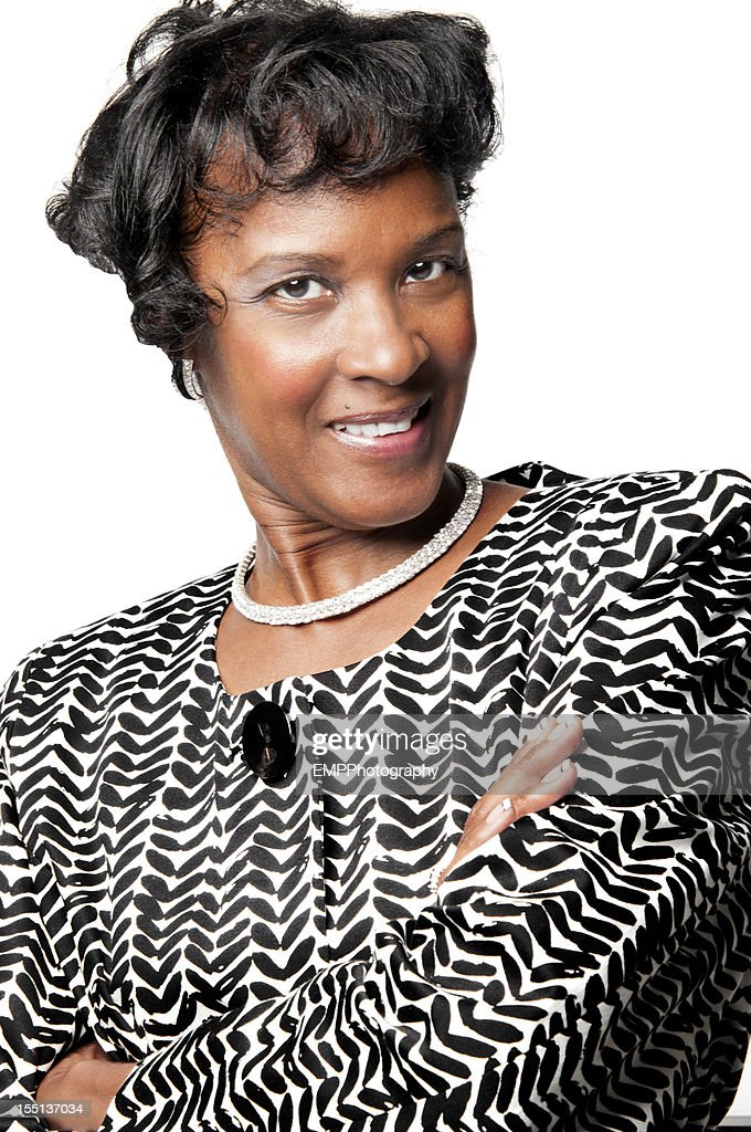 Lovely African American Mature Lady : Stock Photo