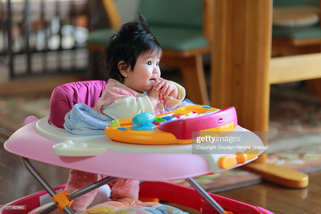 Lovely Baby Wondering : Stock Photo