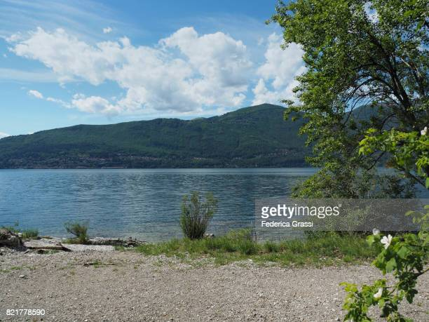 Lovely Beach On The Shores Of Lake Maggiore