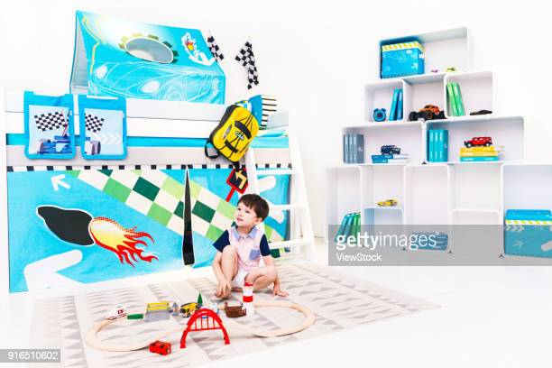 Lovely boy in the playroom