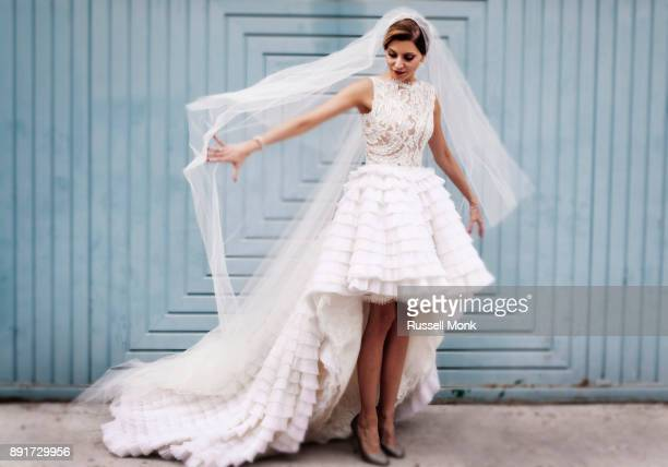 a lovely bride - wedding dress stock pictures, royalty-free photos & images