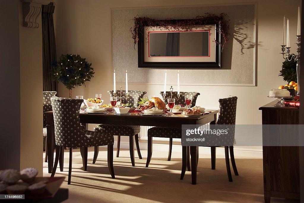 Lovely Christmas Dinner Setting : Stock Photo