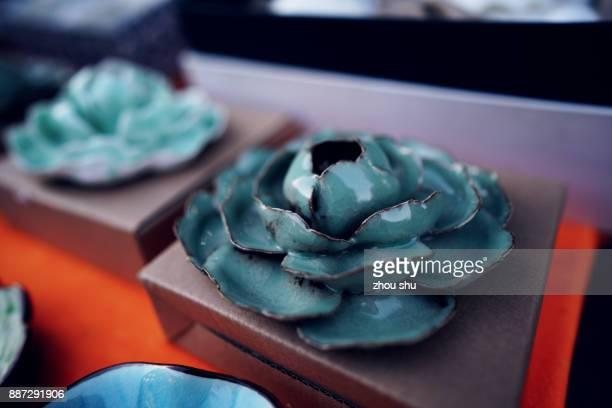 Lovely incense burner China,A lotus shaped incense burner