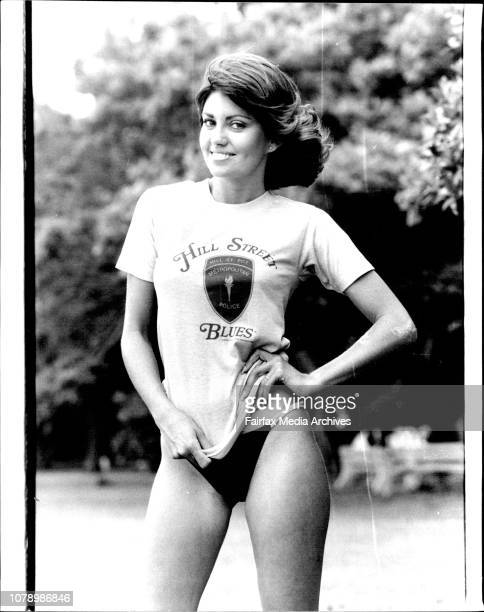 Lovely Karen Pini wearing the Sun T Shirt November 15 1983
