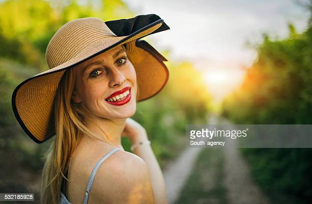 Lovely lady smiling