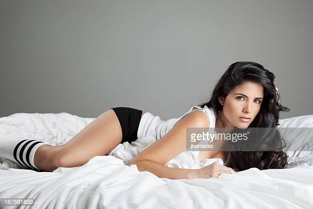 Lovely Latin Woman on Bed