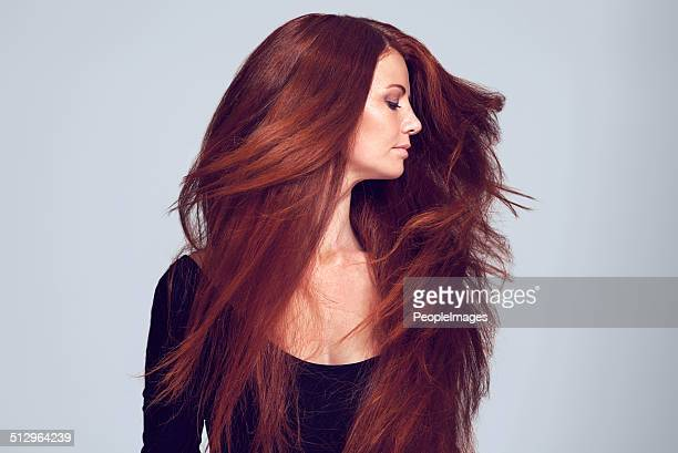 lovely luscious locks - steil haar stockfoto's en -beelden