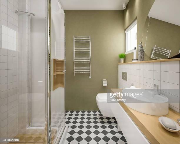 linda casa de banho moderna - artigo de decoração - fotografias e filmes do acervo