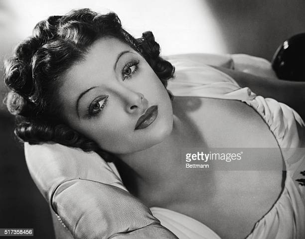 Lovely Myrna Loy MetroGoldwynMayer star who after several weeks away from her home studio is soon to return to prepare for the third picture of the...