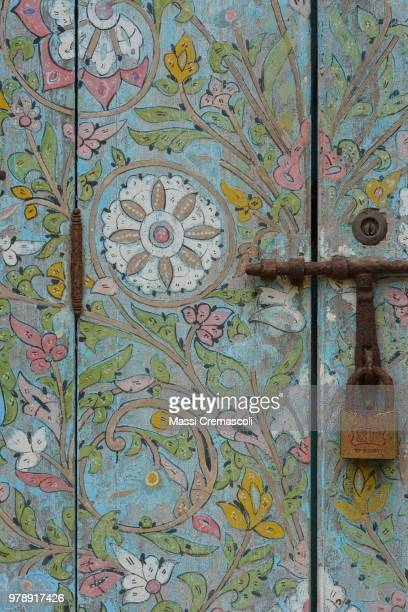 A lovely painted door in the medina of Rabat.