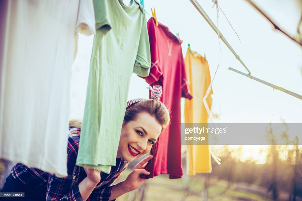 Lovely retro style girl : Stock Photo