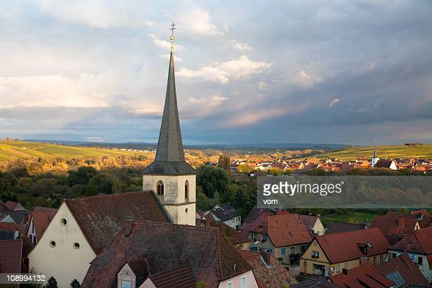 lovely village in franconia, bavaria - spire stock pictures, royalty-free photos & images