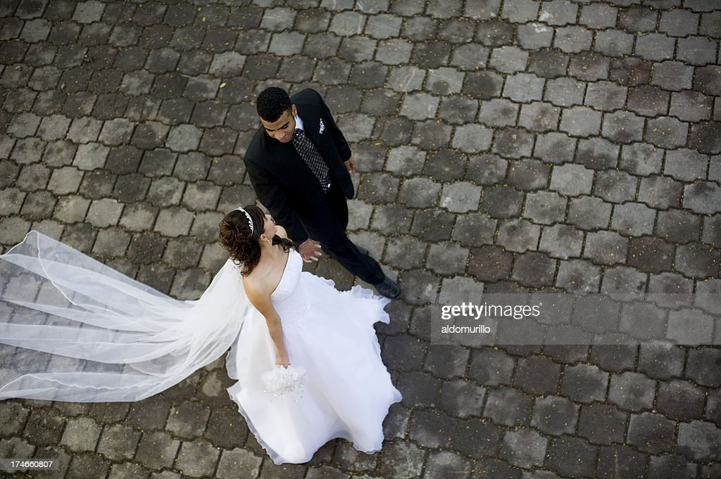 Lovely wedding couple : Stock Photo