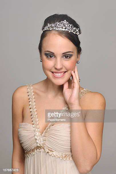 Lovely young woman with party dress
