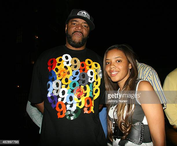 ED Lover and Angela Simmons during Celebrity Sightings at Bunny Chow's June 13 2006 at Cane in New York City New York United States
