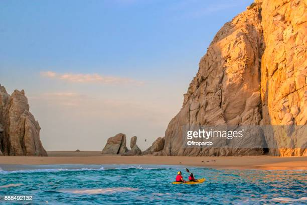lovers beach or la playa del amor - cabo san lucas stock pictures, royalty-free photos & images