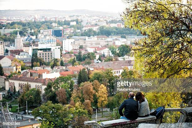 Lovers enjoing the view of Cluj Napoca