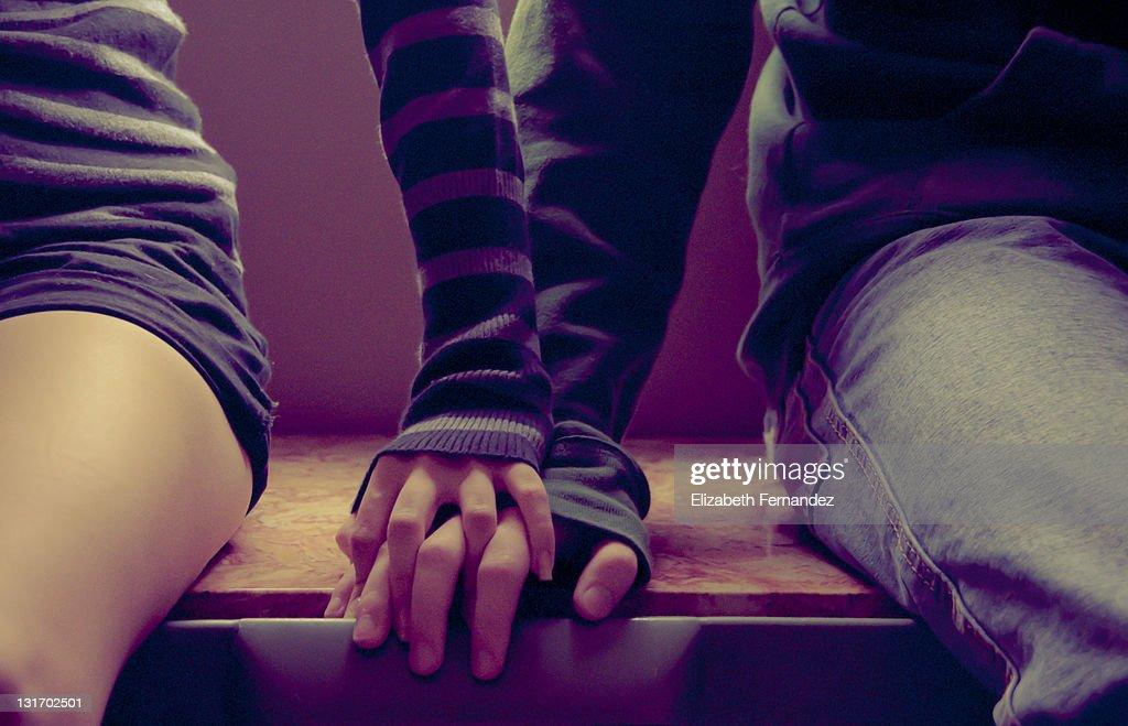 Lovers hands : Stock Photo