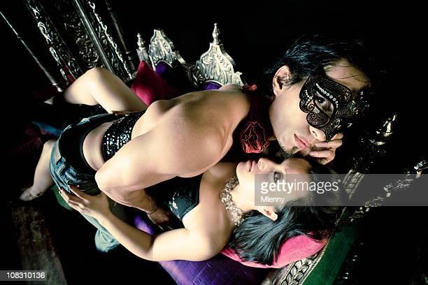 Lovers in Bizarre Nightclub Scene