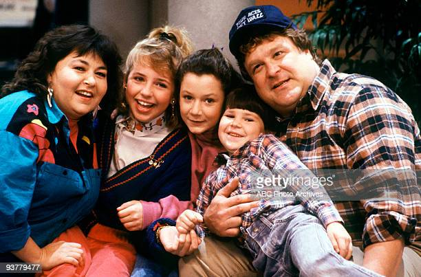 ROSEANNE Lovers' Lane Season One 12/6/88 Bowling night found a different activity for Roseanne Becky Darlene DJ and Dan to engage at the bowling alley